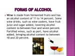 forms of alcohol7