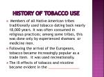 history of tobacco use
