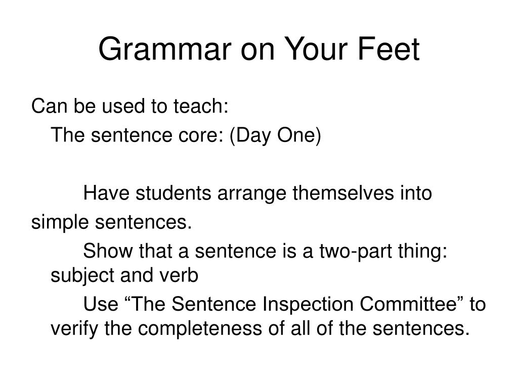 grammar on your feet l.