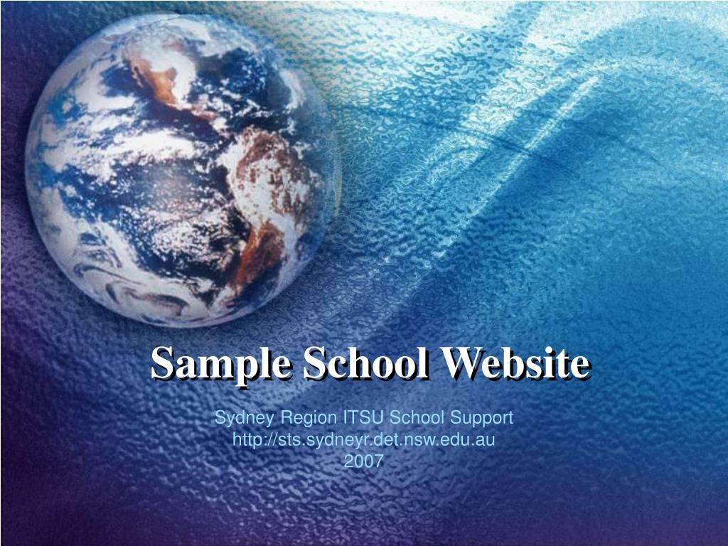 sample school website l.