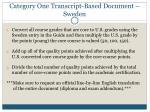 category one transcript based document sweden17