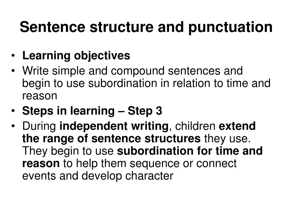 sentence structure and punctuation l.