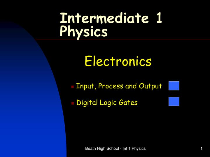 intermediate 1 physics n.