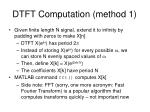 dtft computation method 1