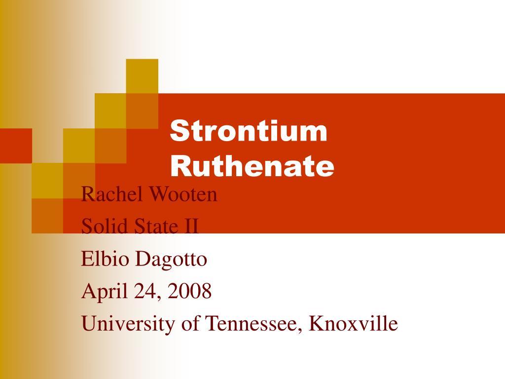 strontium ruthenate l.