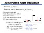 narrow band angle modulation