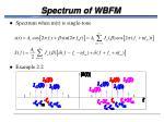 spectrum of wbfm
