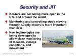 security and jit