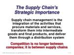 the supply chain s strategic importance