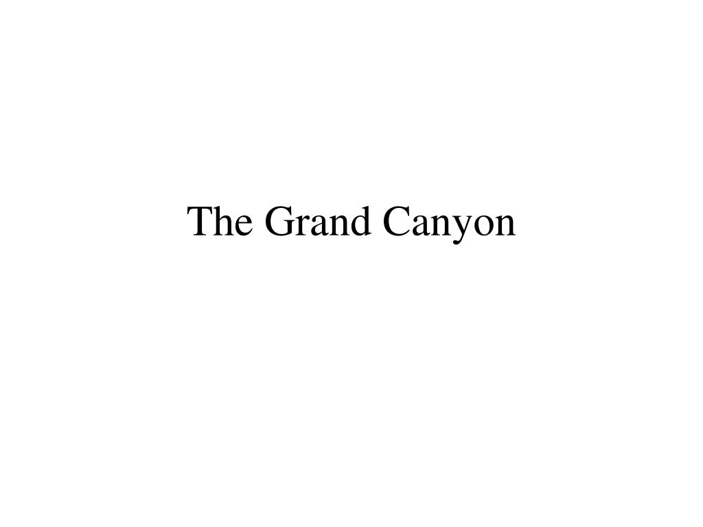 the grand canyon l.