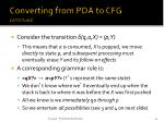 converting from pda to cfg continued