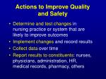 actions to improve quality and safety43