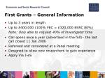 first grants general information