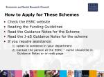 how to apply for these schemes