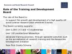 role of the training and development board