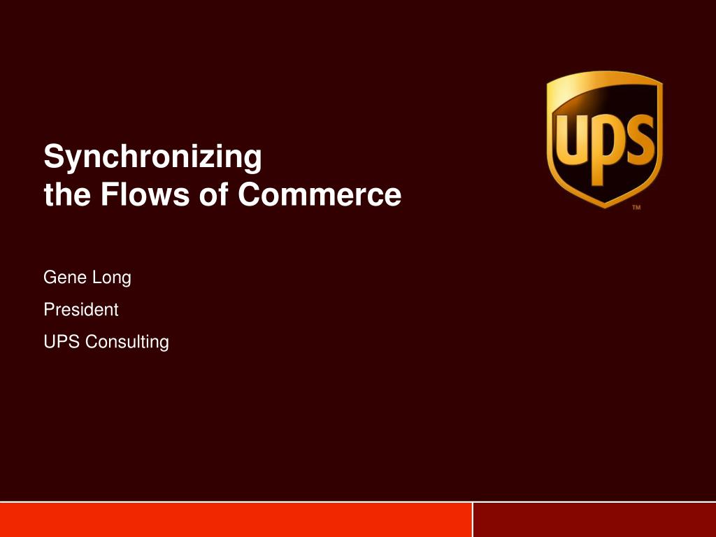 synchronizing the flows of commerce l.