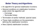 better theory and algorithms