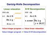 dantzig wolfe decomposition