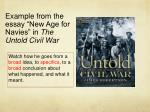 example from the essay new age for navies in the untold civil war