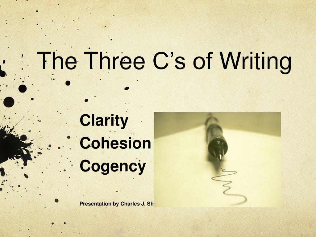 the three c s of writing l.