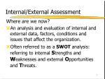 internal external assessment