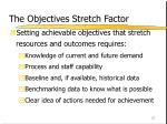 the objectives stretch factor