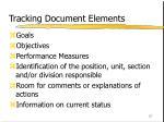 tracking document elements