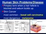 human skin problems disease