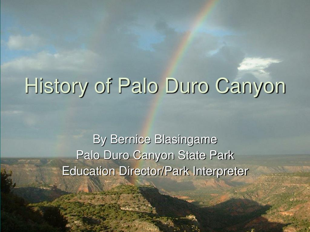 history of palo duro canyon l.
