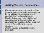 adding vectors schmectors