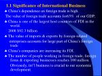 1 1 significance of international business