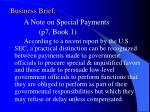 business brief