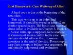 first homework case write up of aflac