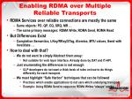 enabling rdma over multiple reliable transports