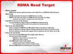 rdma read target