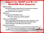 support for iwarp and ib 1 2 bind fmr work requests