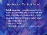 application controls input35