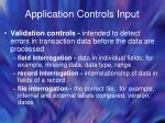 application controls input36