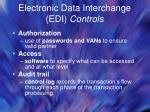 electronic data interchange edi controls