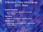 electronic data interchange edi risks