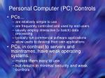 personal computer pc controls