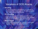 variations of dos attacks