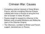 crimean war causes