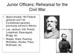 junior officers rehearsal for the civil war