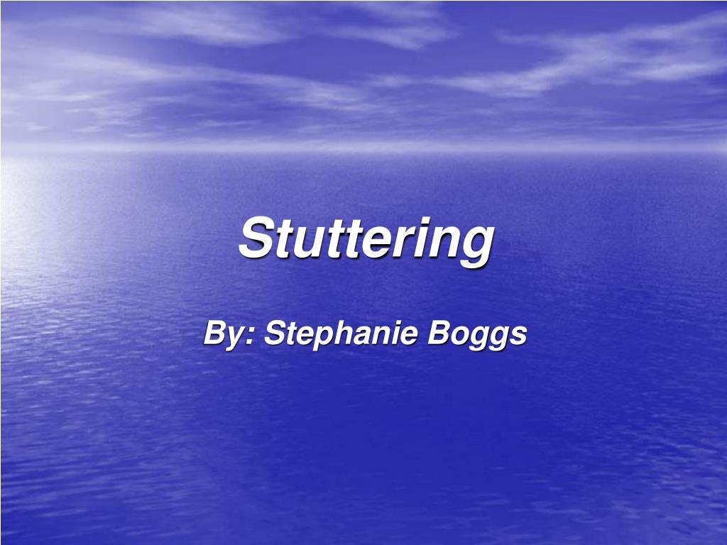 stuttering l.