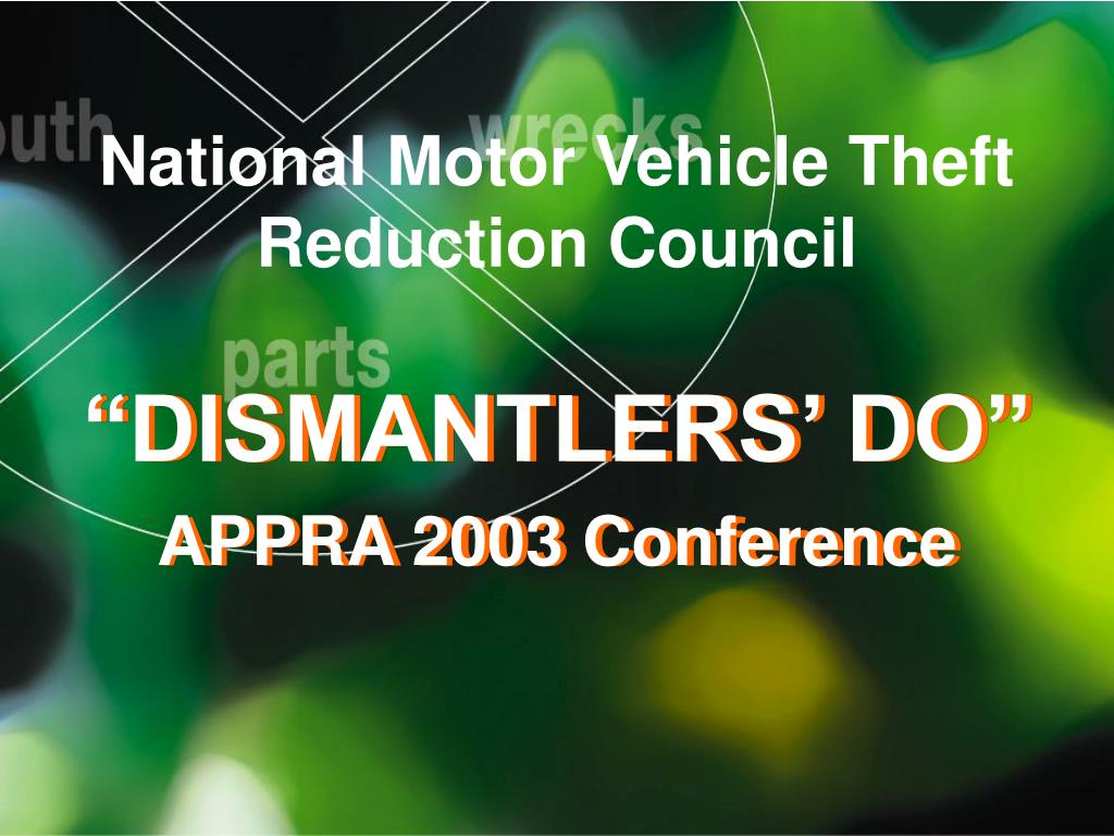 national motor vehicle theft reduction council l.