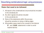 describing combinational logic using processes11