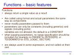 functions basic features