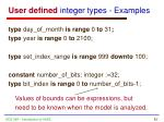 user defined integer types examples