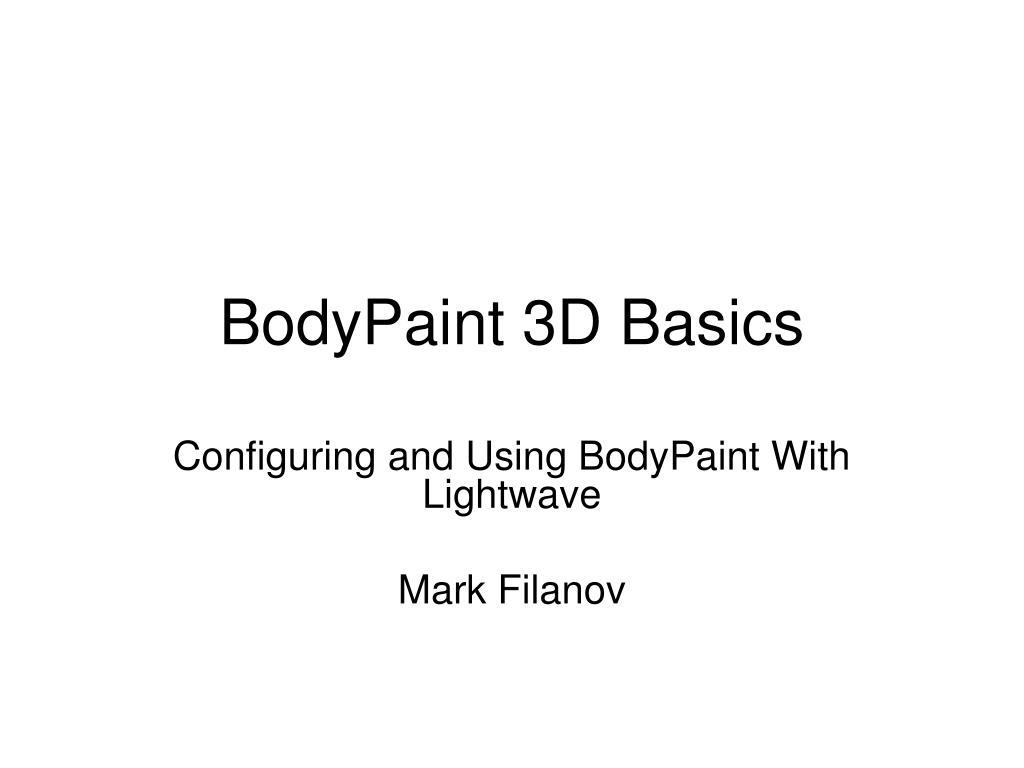 bodypaint 3d basics l.
